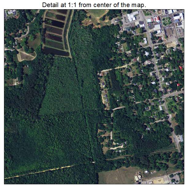 Barnwell, South Carolina aerial imagery detail