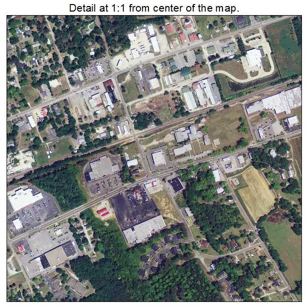 Batesburg Leesville, South Carolina aerial imagery detail