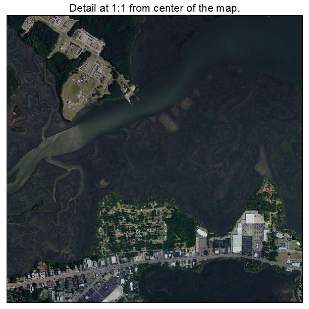 Beaufort, South Carolina aerial imagery detail