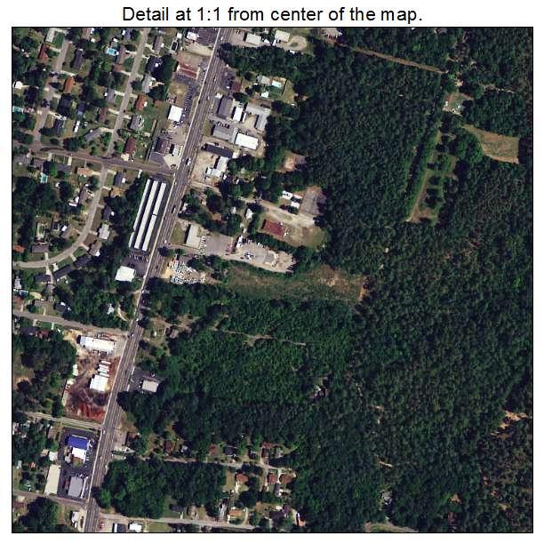 Belvedere, South Carolina aerial imagery detail