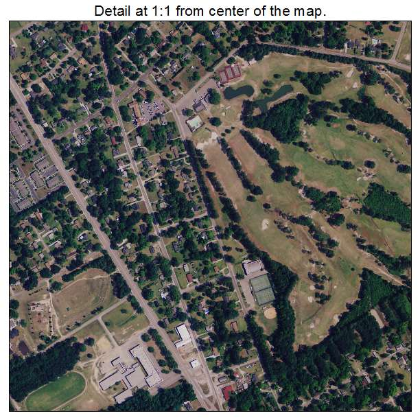 Bennettsville, South Carolina aerial imagery detail