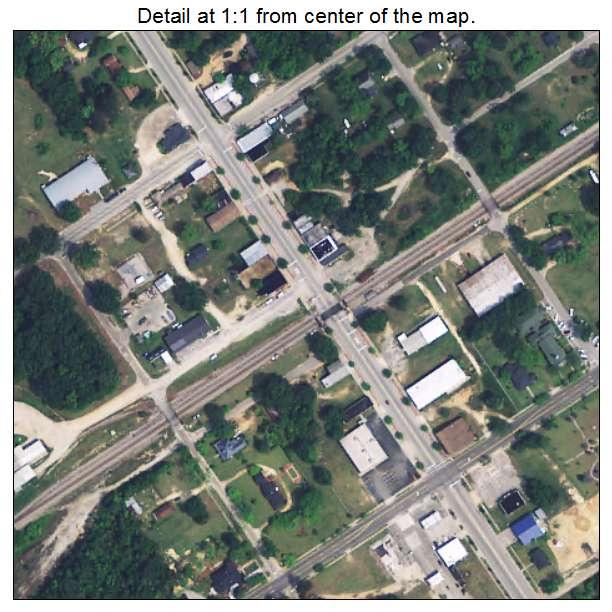 Bethune, South Carolina aerial imagery detail