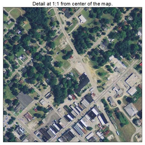 Bishopville, South Carolina aerial imagery detail