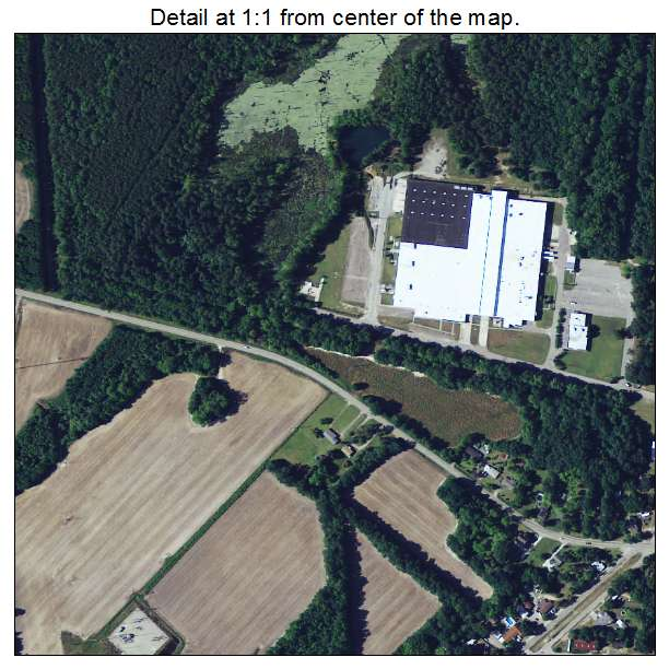Blackville, South Carolina aerial imagery detail