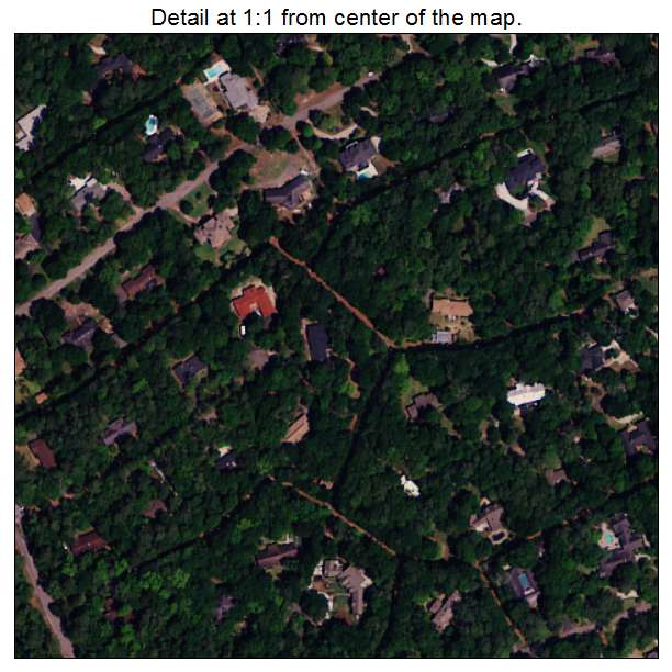 Briarcliffe Acres, South Carolina aerial imagery detail