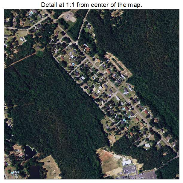 Burnettown, South Carolina aerial imagery detail