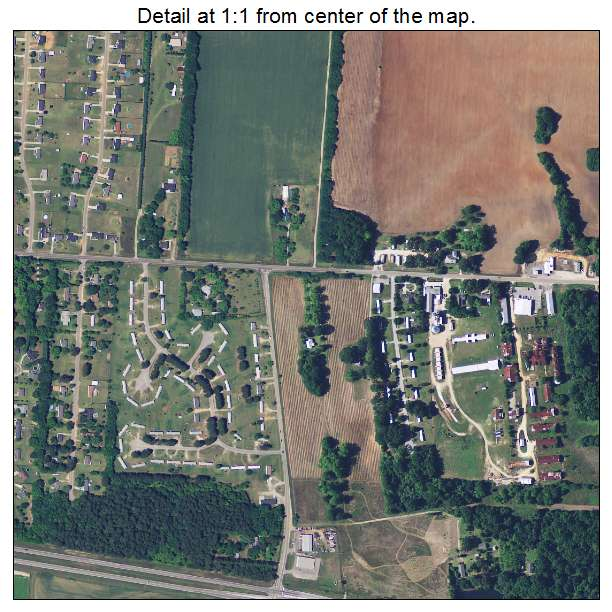 Dalzell, South Carolina aerial imagery detail