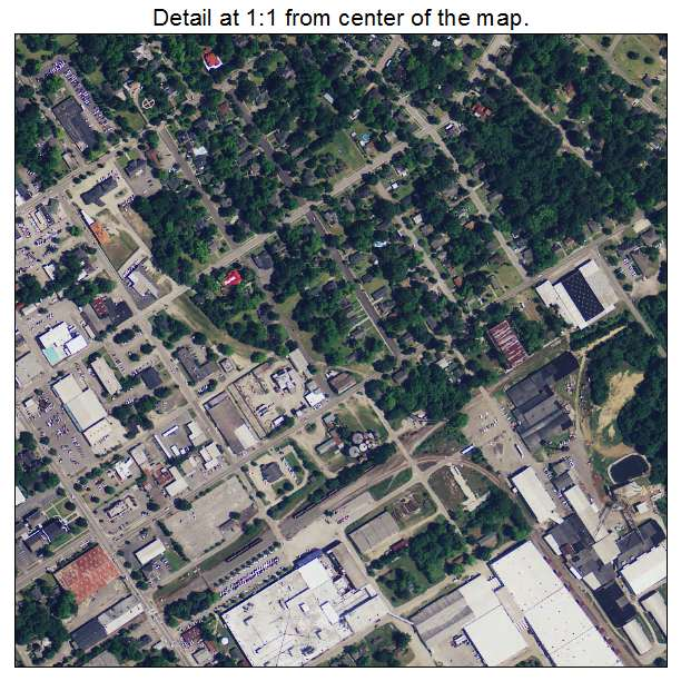 Darlington, South Carolina aerial imagery detail