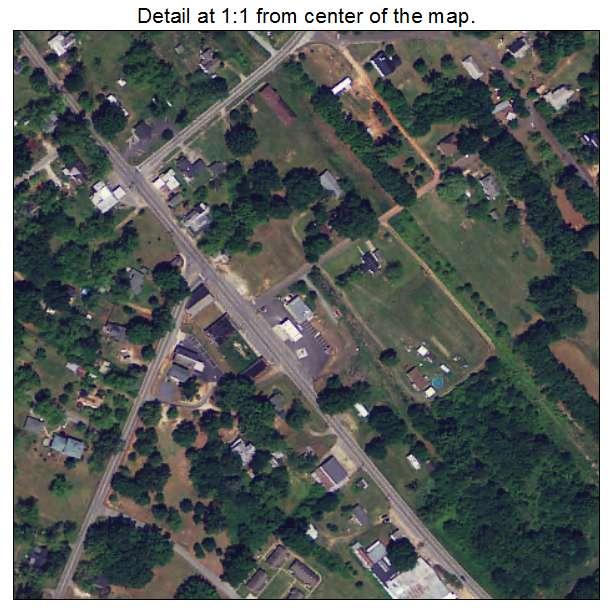 Donalds, South Carolina aerial imagery detail