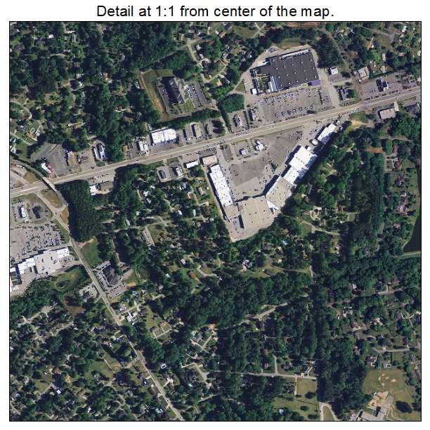 Easley, South Carolina aerial imagery detail