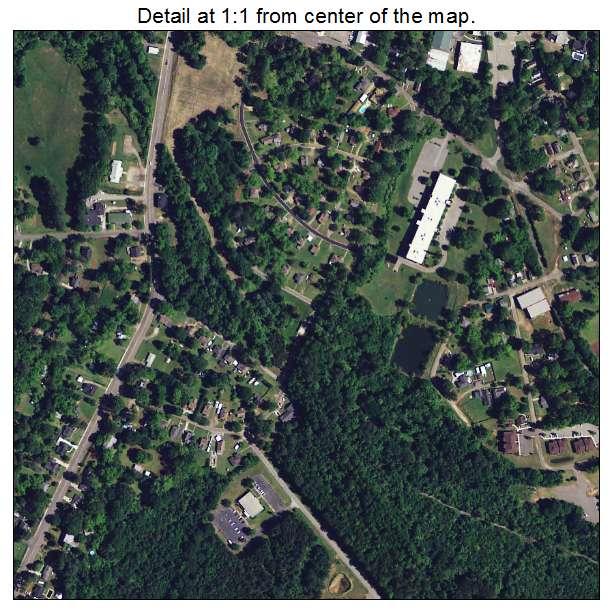 Edgefield, South Carolina aerial imagery detail