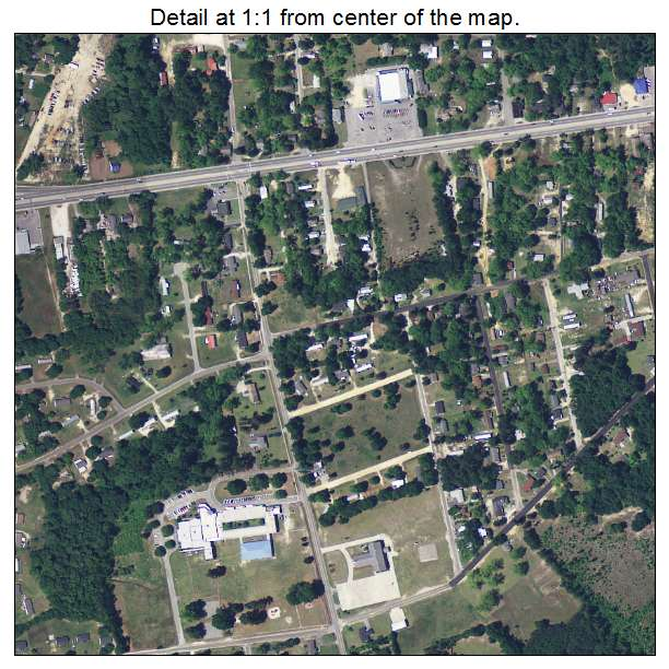Edisto, South Carolina aerial imagery detail