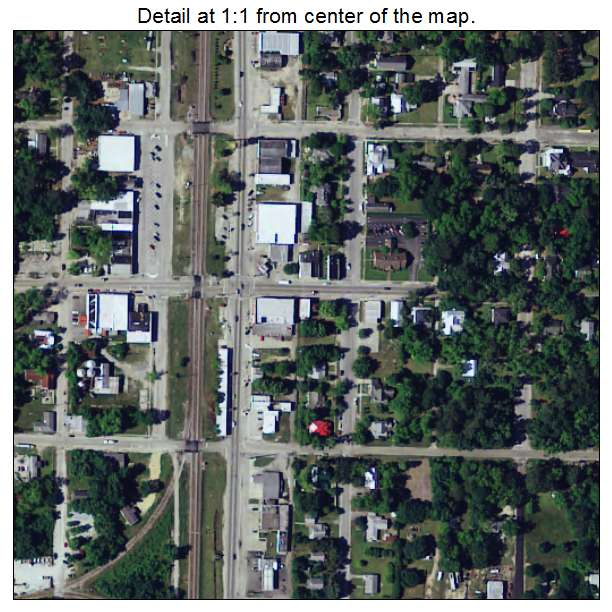 Estill, South Carolina aerial imagery detail
