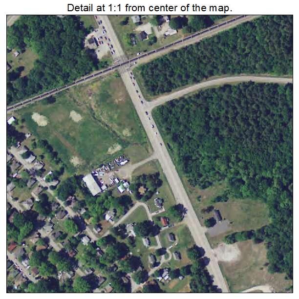 Eureka Mill, South Carolina aerial imagery detail