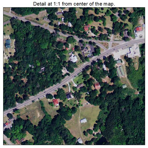 Eutawville, South Carolina aerial imagery detail