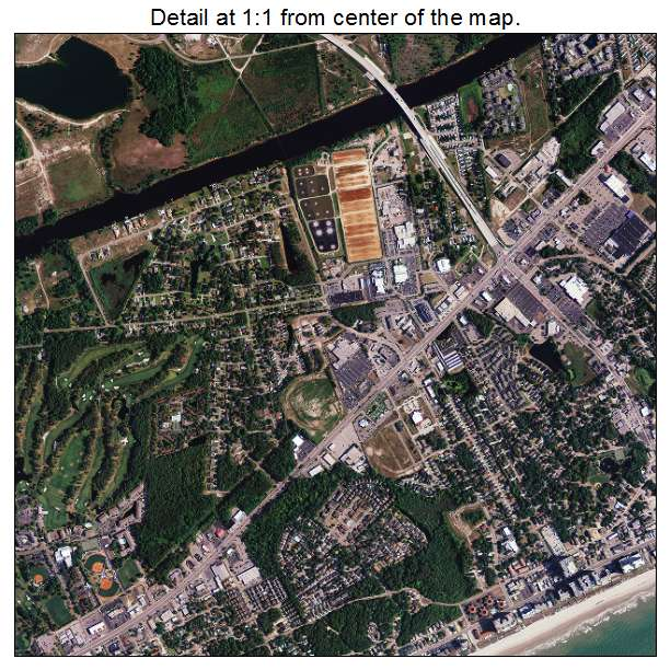 North Myrtle Beach, South Carolina aerial imagery detail