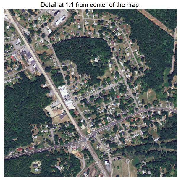 Union, South Carolina aerial imagery detail