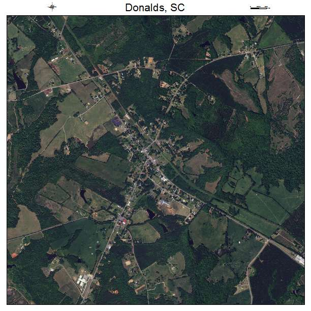 Donalds, SC air photo map