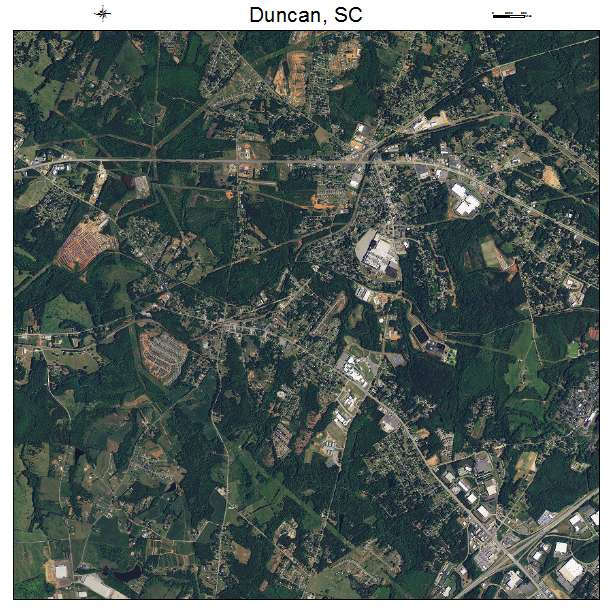 Duncan, SC air photo map