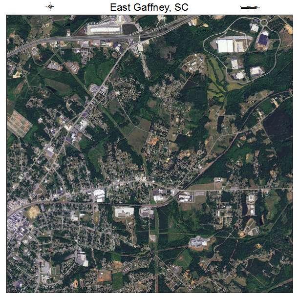 East Gaffney, SC air photo map