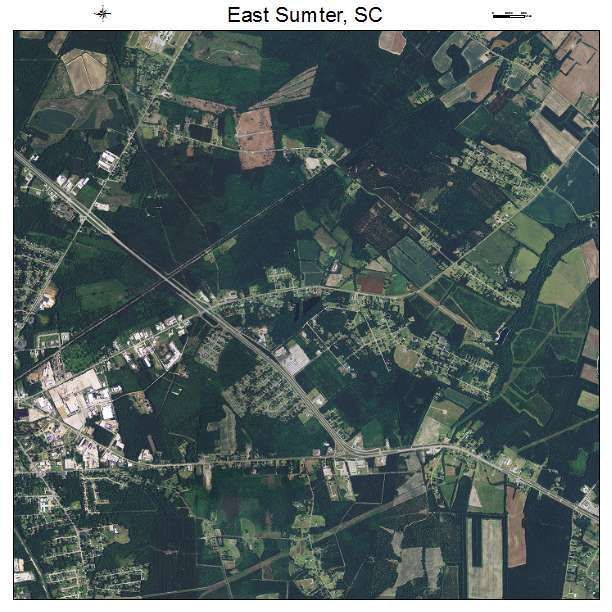 East Sumter, SC air photo map