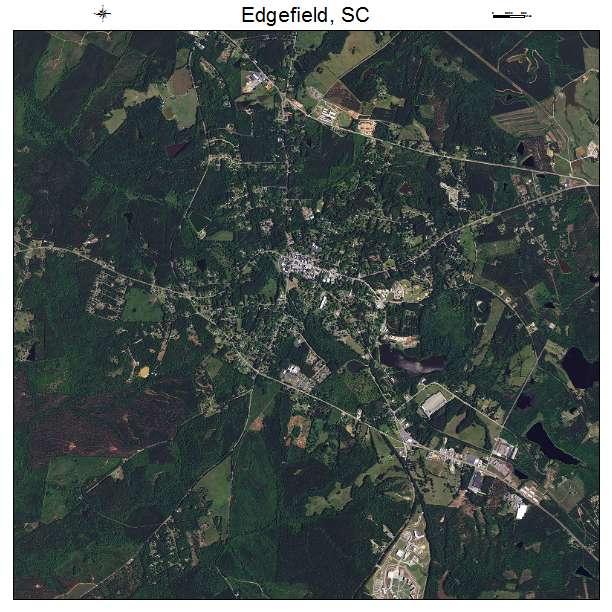 Edgefield, SC air photo map