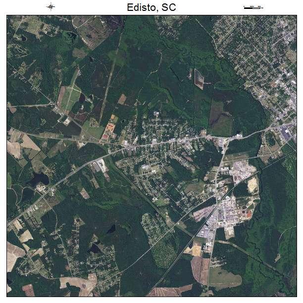 Edisto, SC air photo map