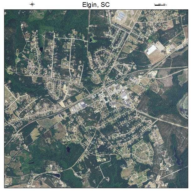 Elgin, SC air photo map