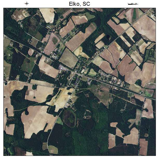 Elko, SC air photo map