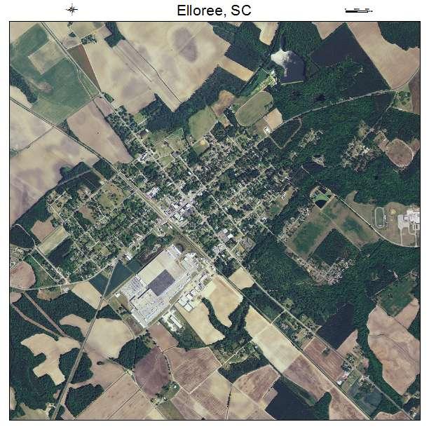 Elloree, SC air photo map