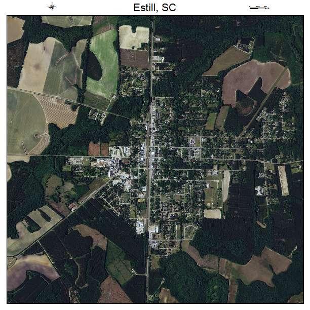 Estill, SC air photo map