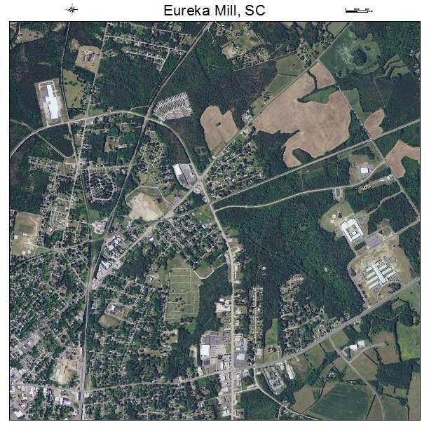 Eureka Mill, SC air photo map