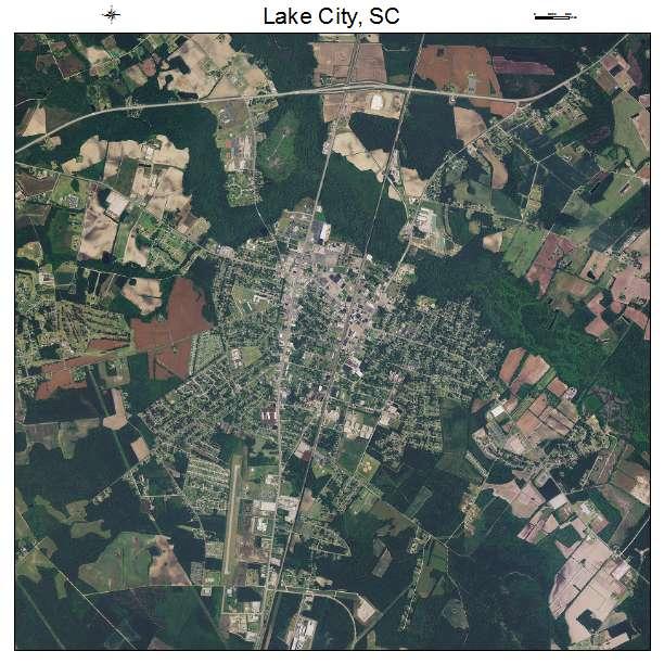 Lake City, SC air photo map