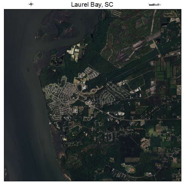 Laurel Bay, SC air photo map