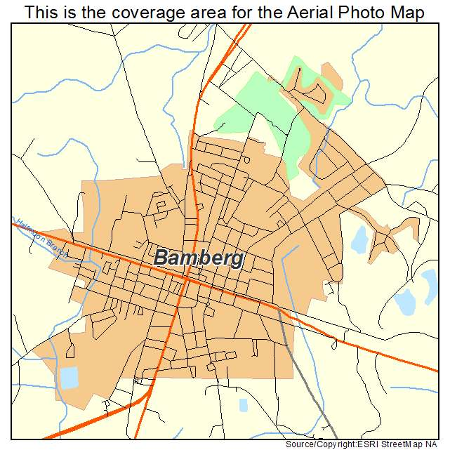 Bamberg, SC location map