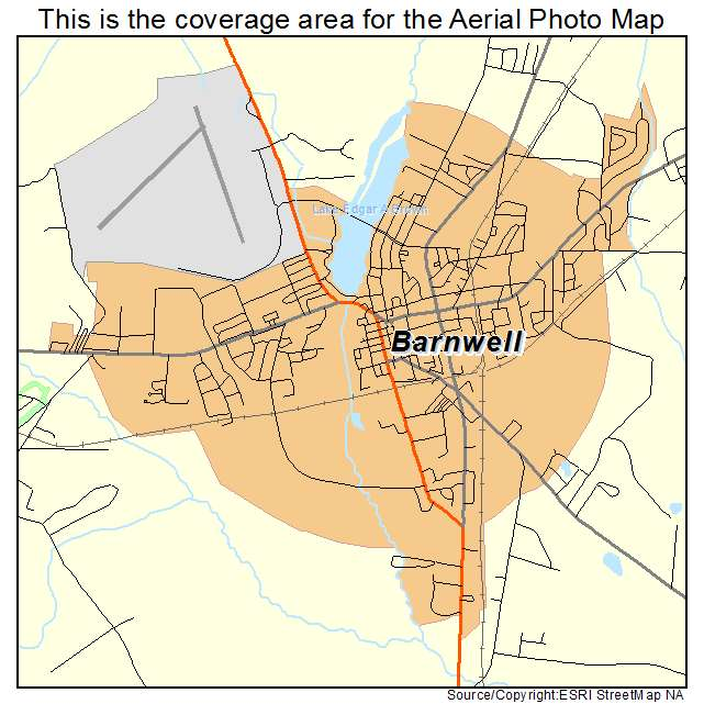 Barnwell, SC location map