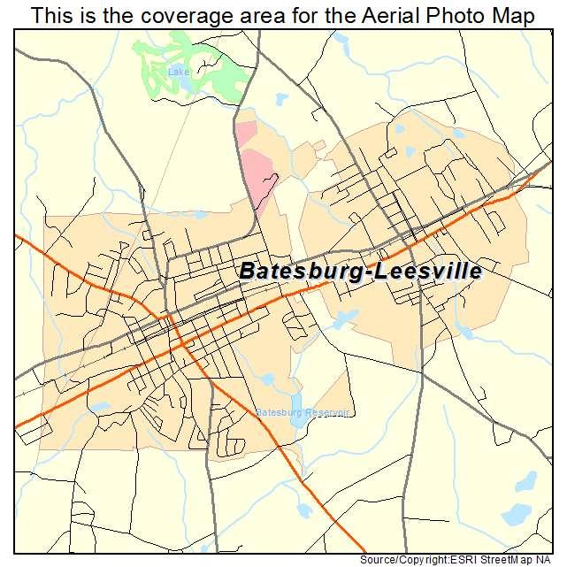 Batesburg Leesville, SC location map