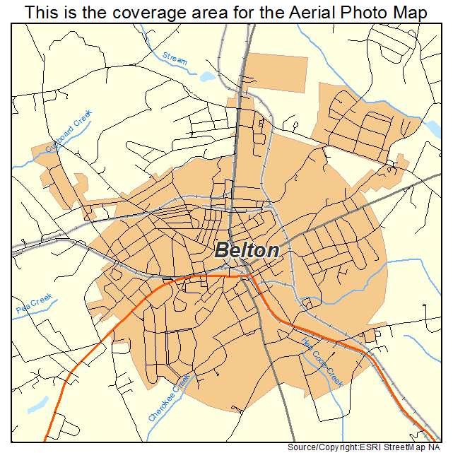 Belton, SC location map