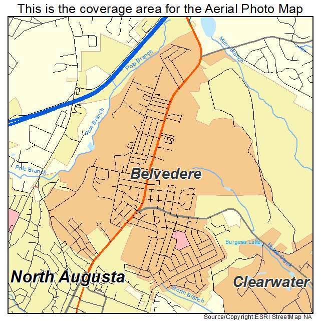 Belvedere, SC location map