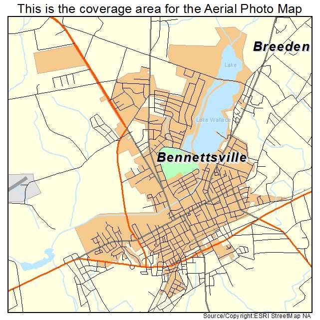 Bennettsville, SC location map