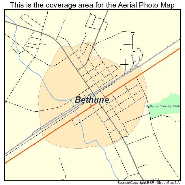 Bethune, SC location map