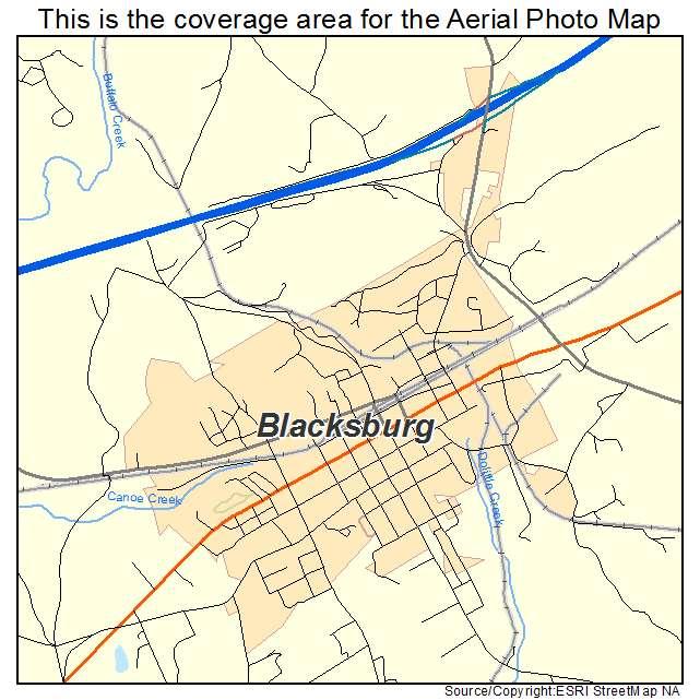 Blacksburg, SC location map