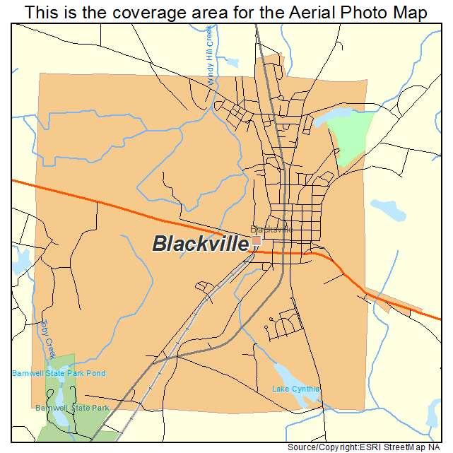 Blackville, SC location map