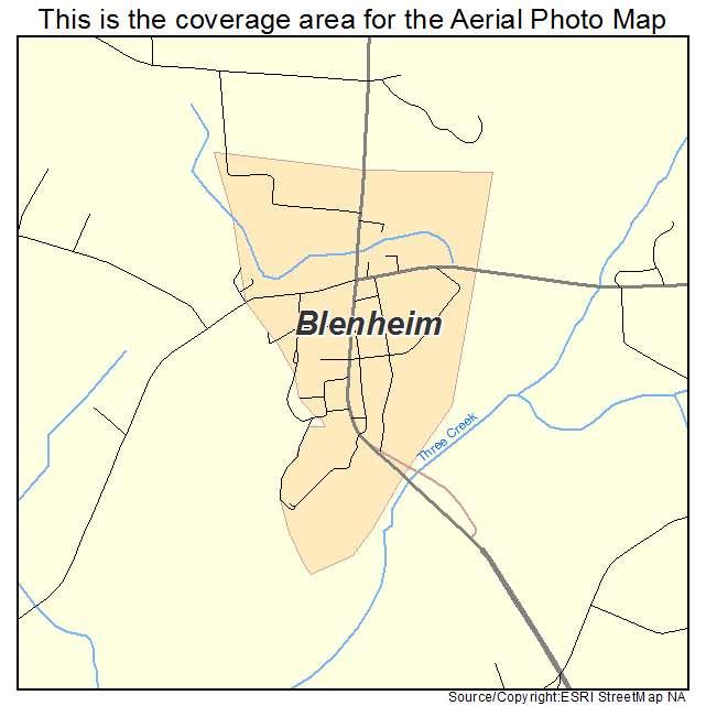 Blenheim, SC location map