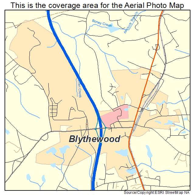 Blythewood, SC location map