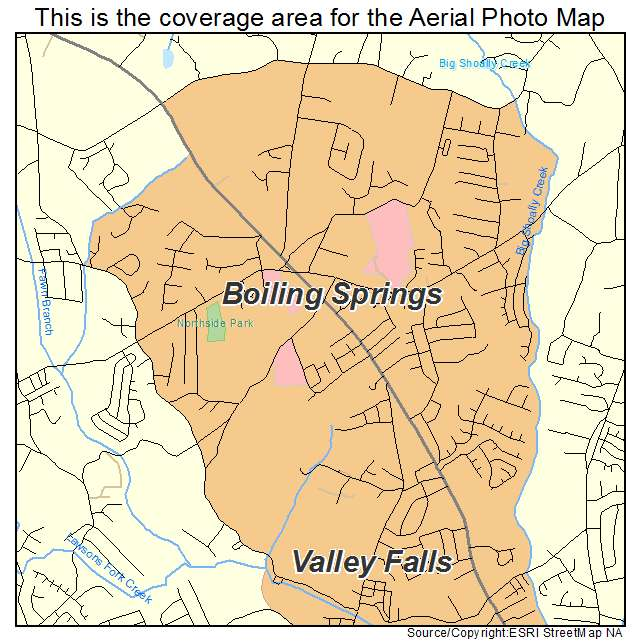 Boiling Springs, SC location map