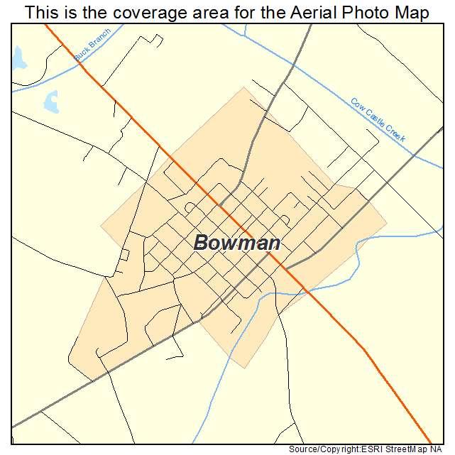 Bowman, SC location map