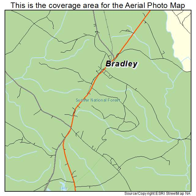 Bradley, SC location map