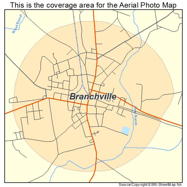 Branchville, SC location map