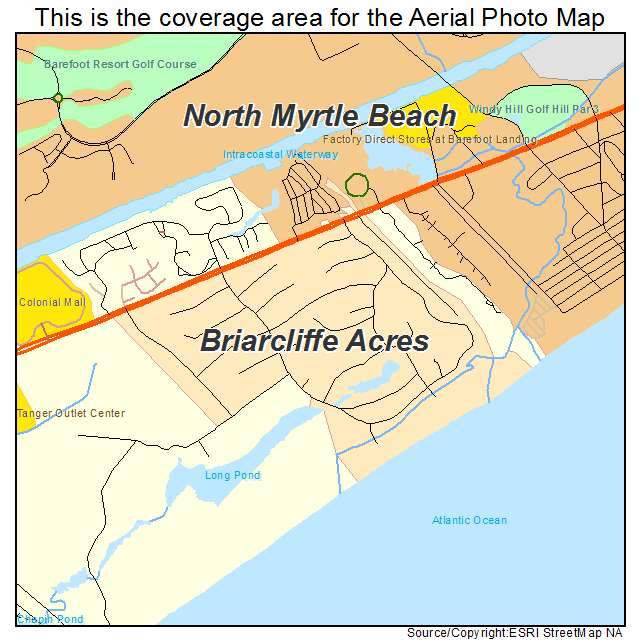 Briarcliffe Acres, SC location map